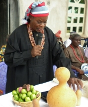 Chairman of the day ... congratulating Fr Raphael on conceiving of & organising the Cultural Day